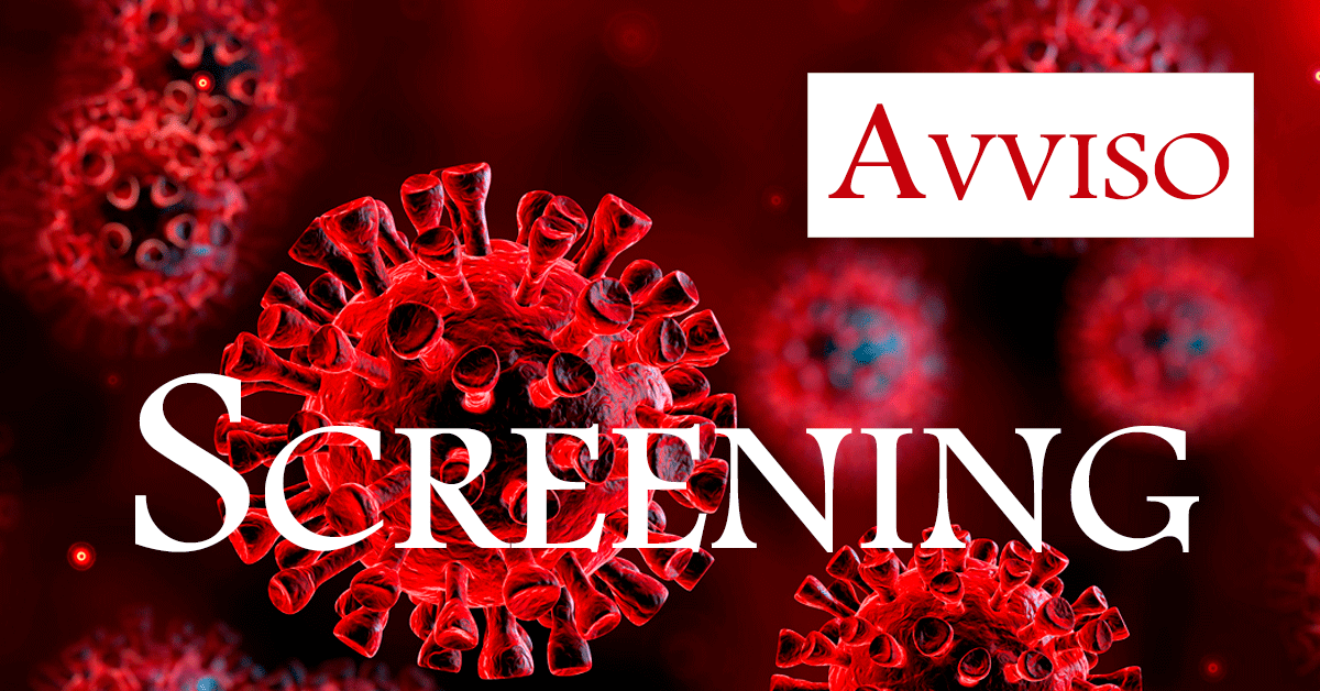 avviso per screening
