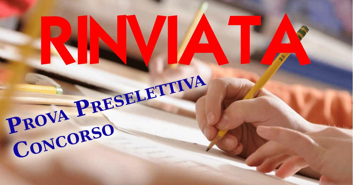 rinvio-prova-preselettiva-concorso